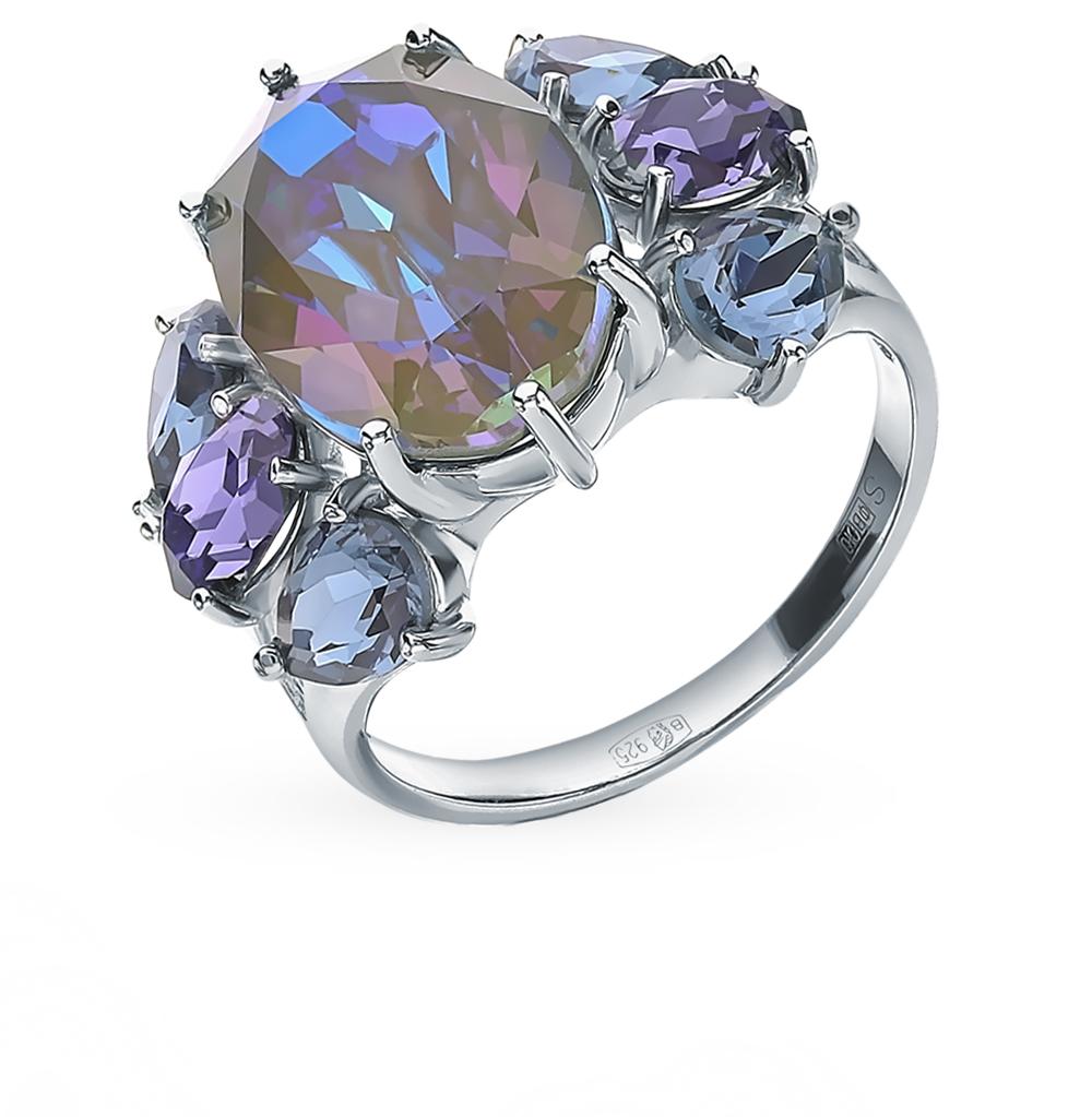 Фото «Серебряное кольцо с кристаллами SOKOLOV 94013055»