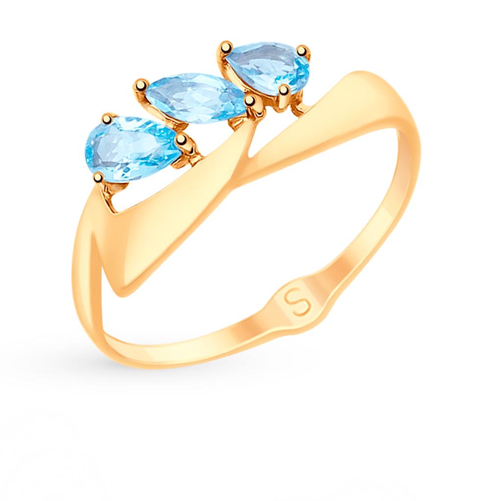 золотое кольцо с топазами SOKOLOV 715126*