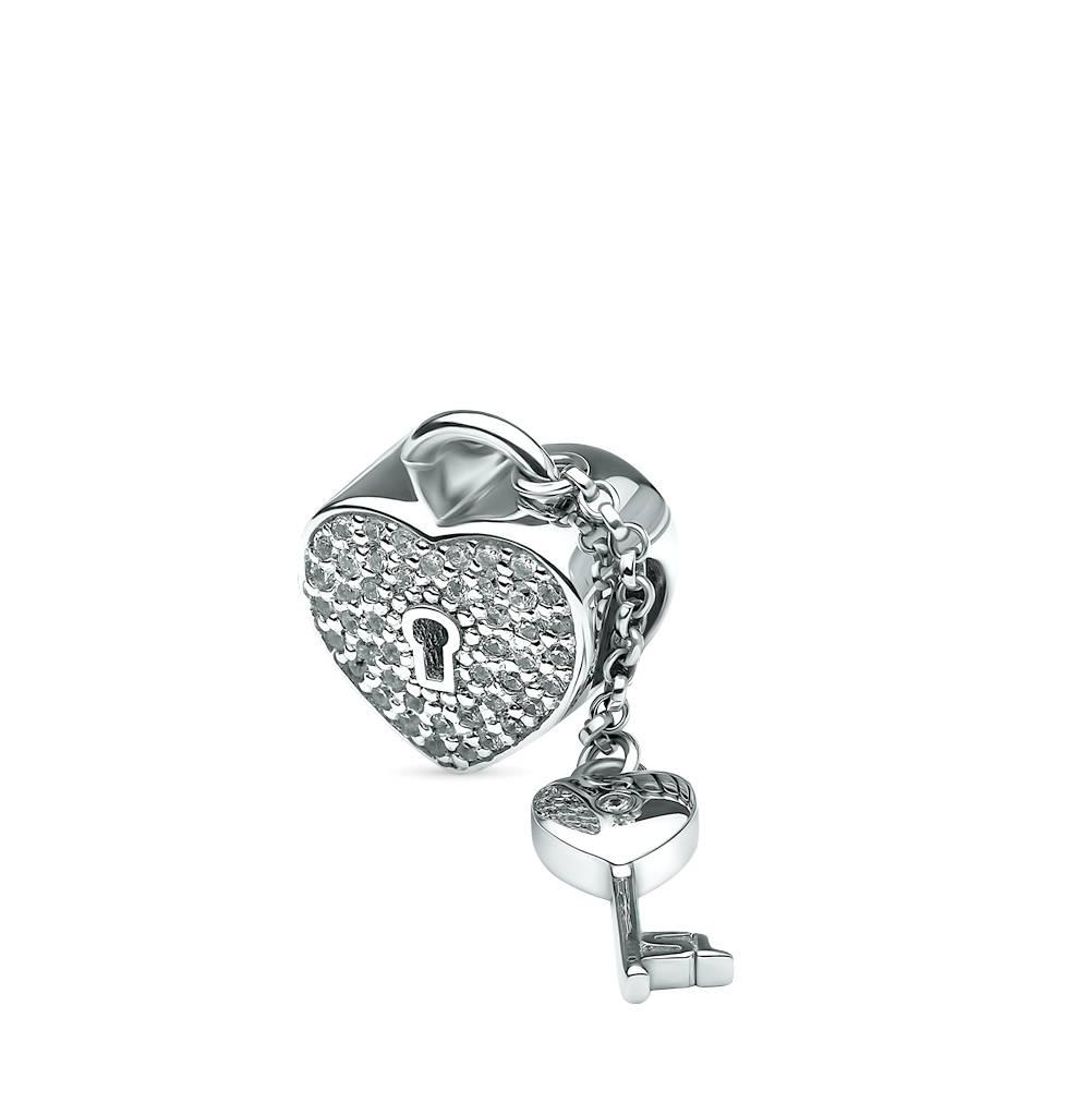 Фото «Серебряная подвеска - шарм с бриллиантами»