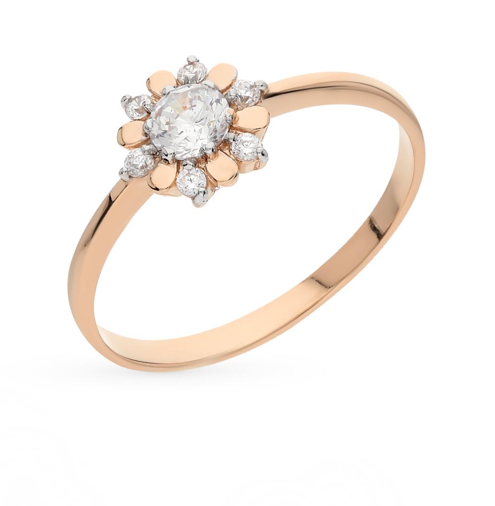 Золотое кольцо с фианитами от SUNLIGHT