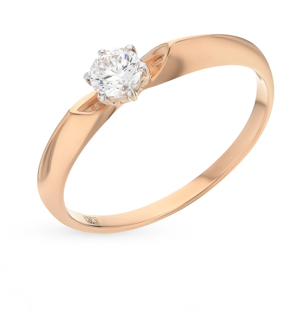Фото «Золотое кольцо с фианитами SOKOLOV 81010214*»