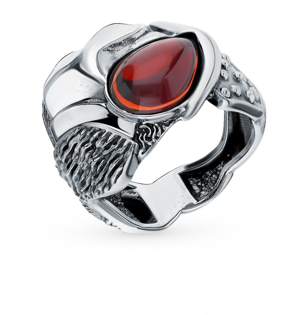 Серебряное кольцо с гранатом «Феникс»