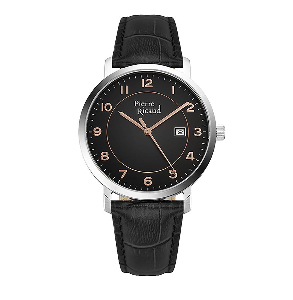 Фото «Мужские кварцевые часы P97229.52R4Q на кожаном ремешке с минеральным стеклом»