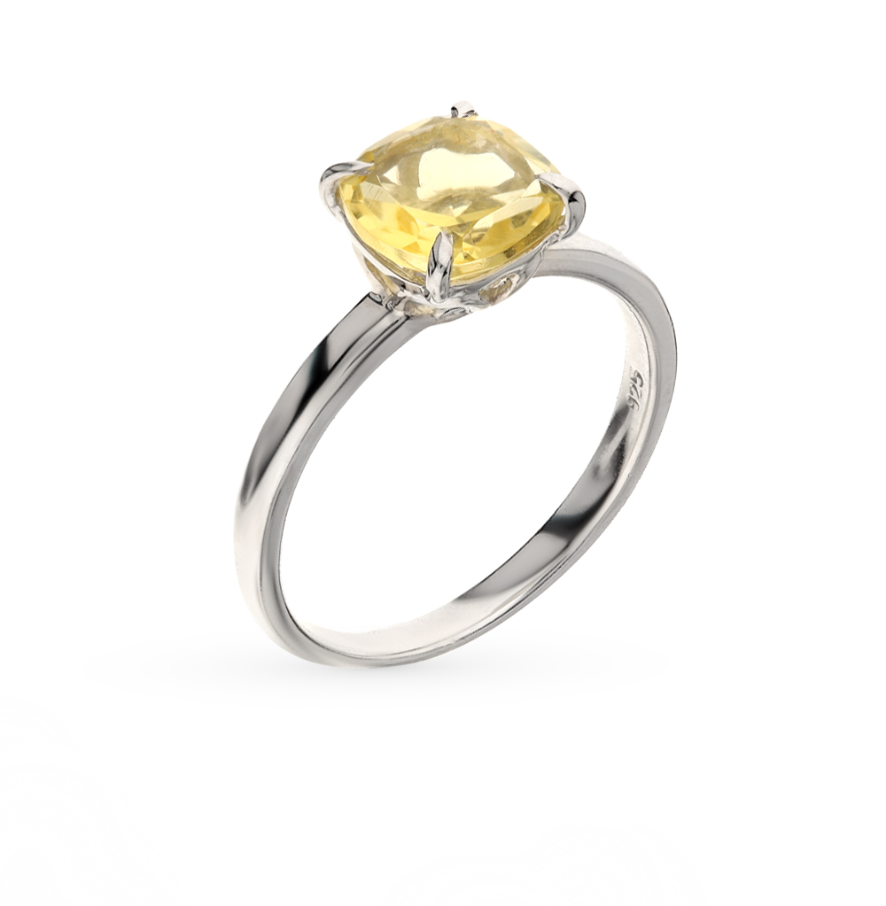 Фото «серебряное кольцо с цитринами и фианитами»