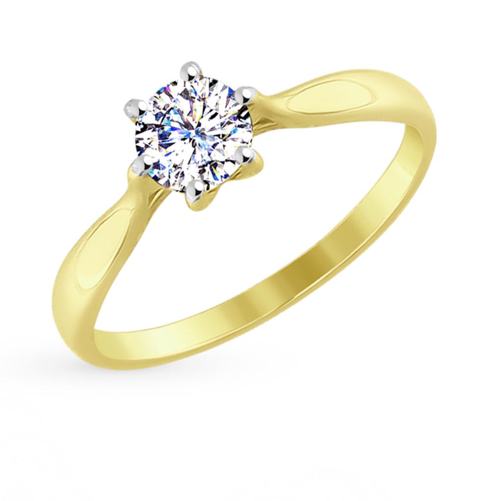 золотое кольцо с фианитами SOKOLOV 81010285-2*