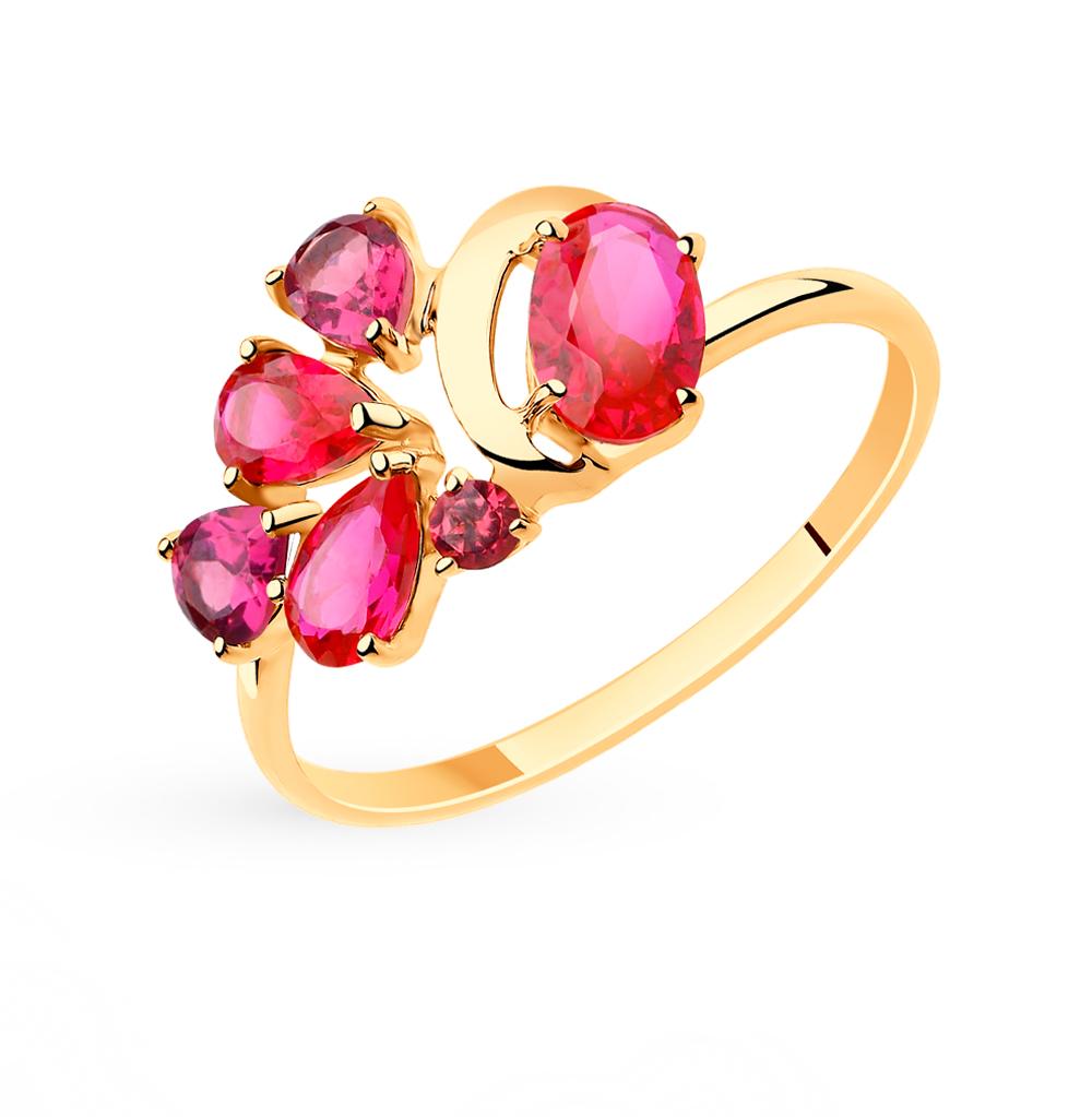 Золотое кольцо с рубинами и корундом SOKOLOV 715509* в Екатеринбурге