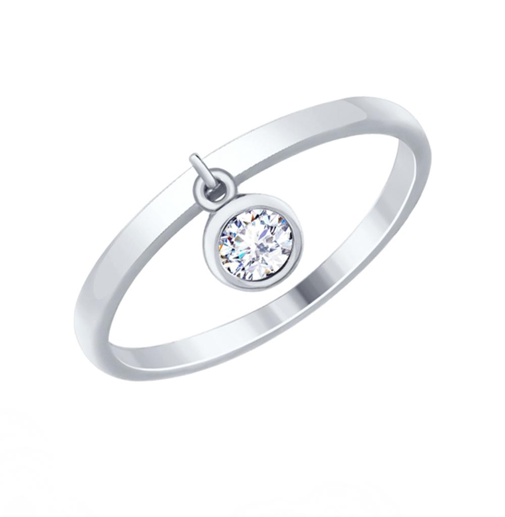 серебряное кольцо с фианитами SOKOLOV 94012526