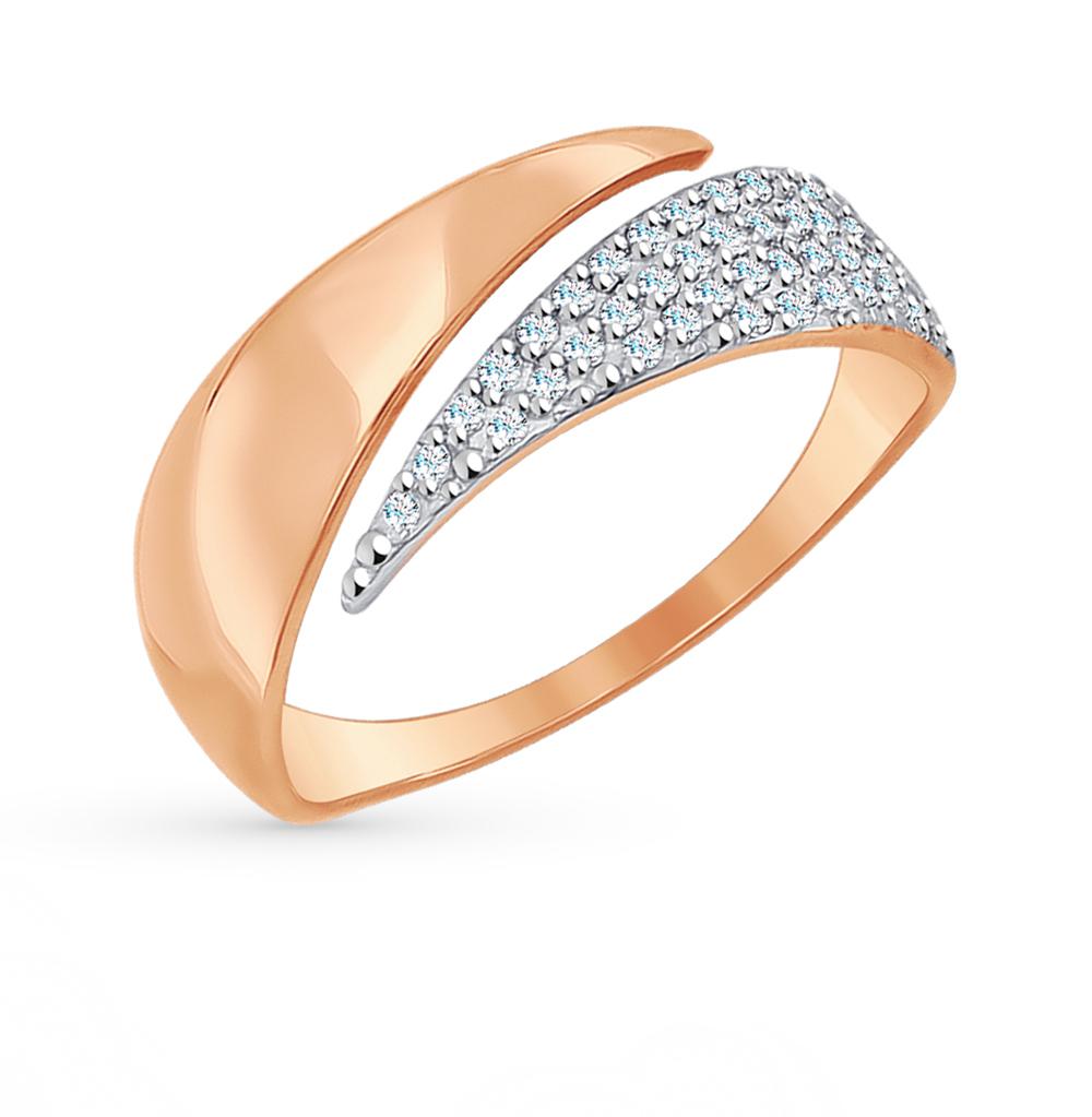 Фото «Золотое кольцо с фианитами SOKOLOV 017047*»
