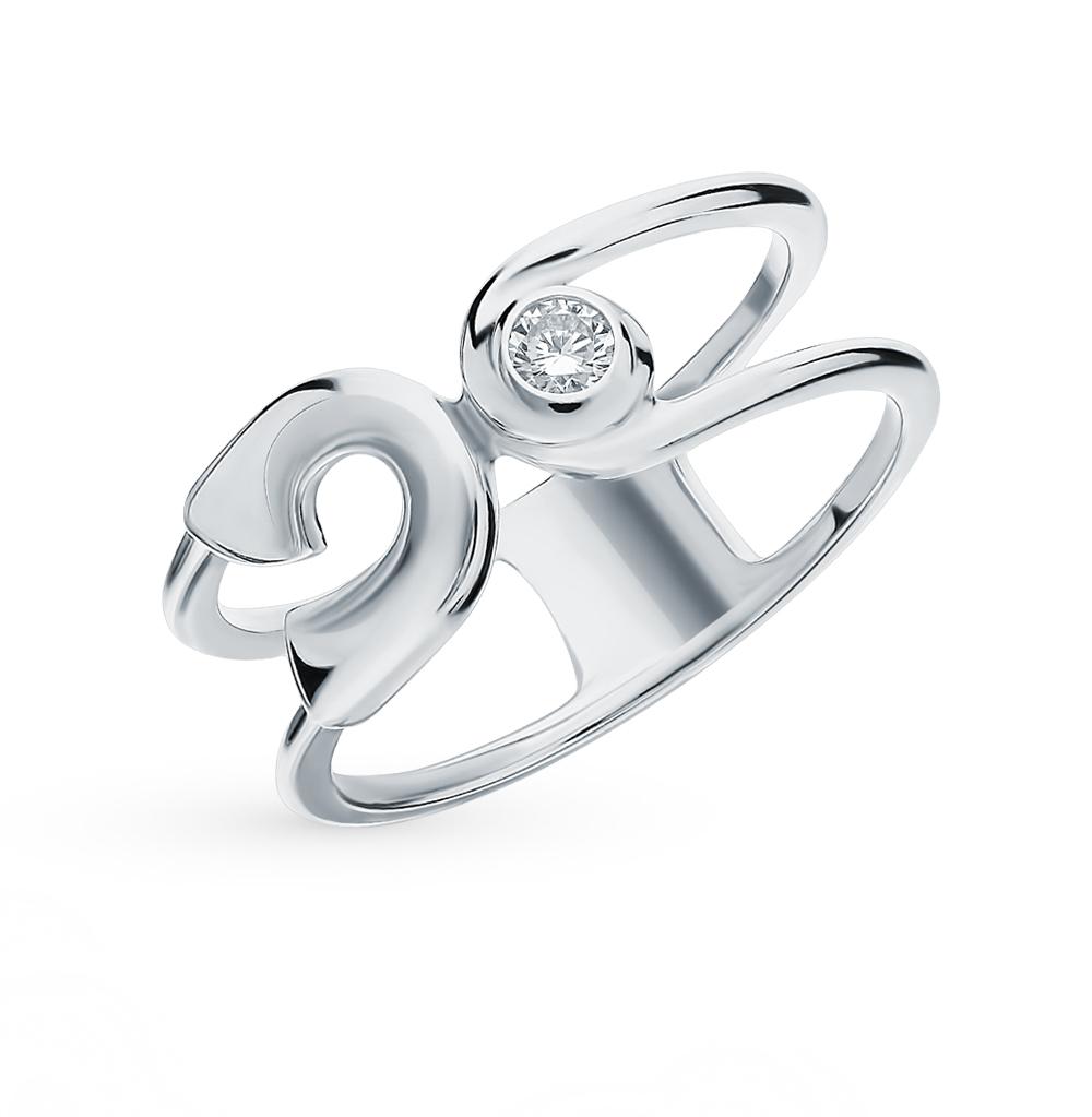 серебряное кольцо с фианитами SOKOLOV 94012986
