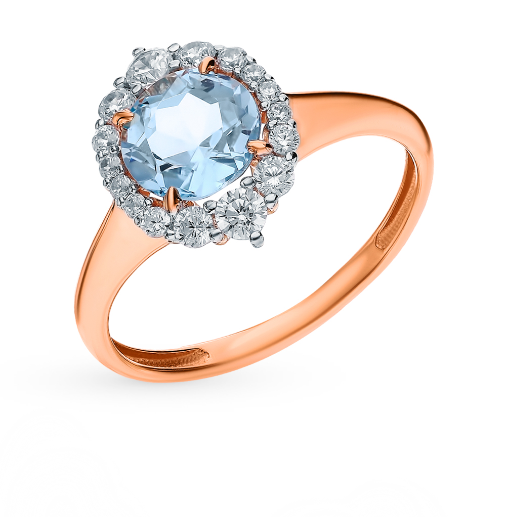 Золотое кольцо с топазами в Екатеринбурге