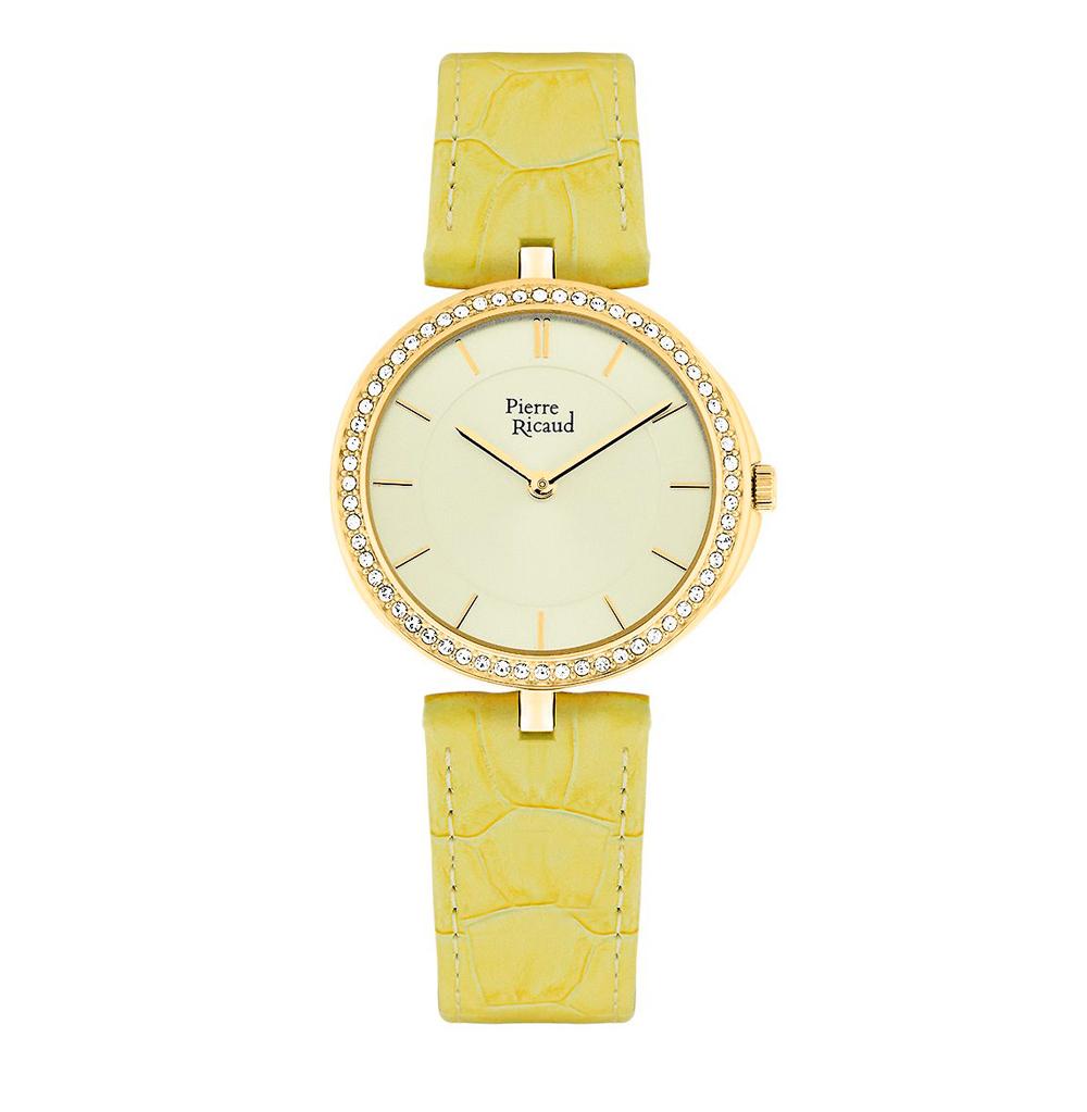 Женские часы P21063.1211QZ на кожаном ремешке с минеральным стеклом в Екатеринбурге