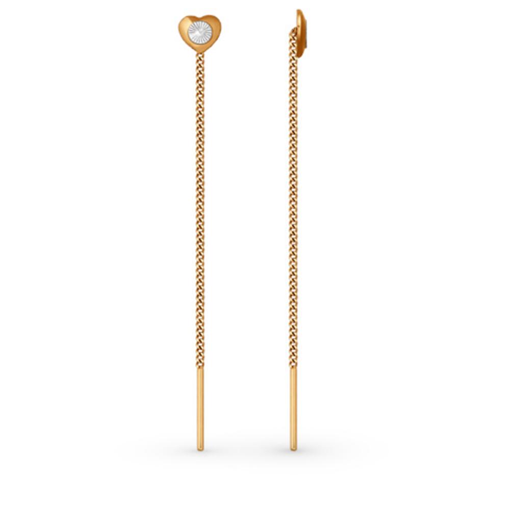 золотые серьги SOKOLOV 022410*