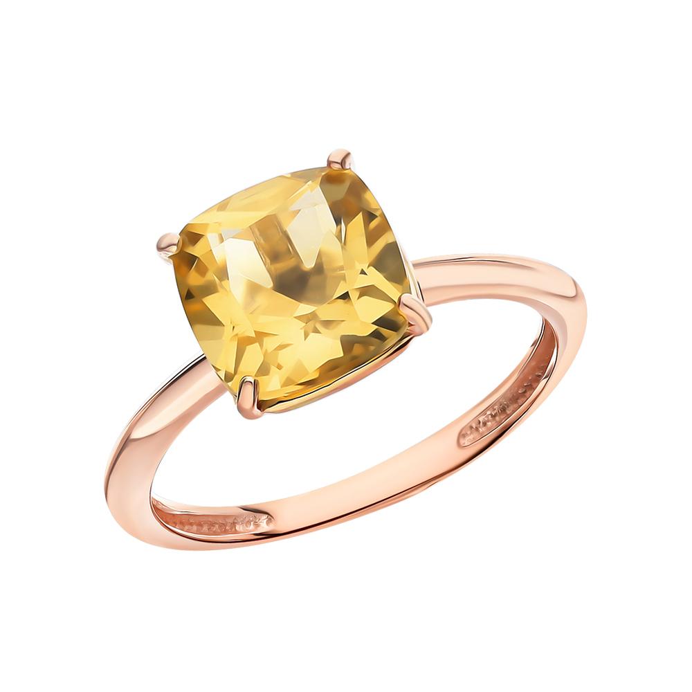 Золотое кольцо с цитринами в Екатеринбурге