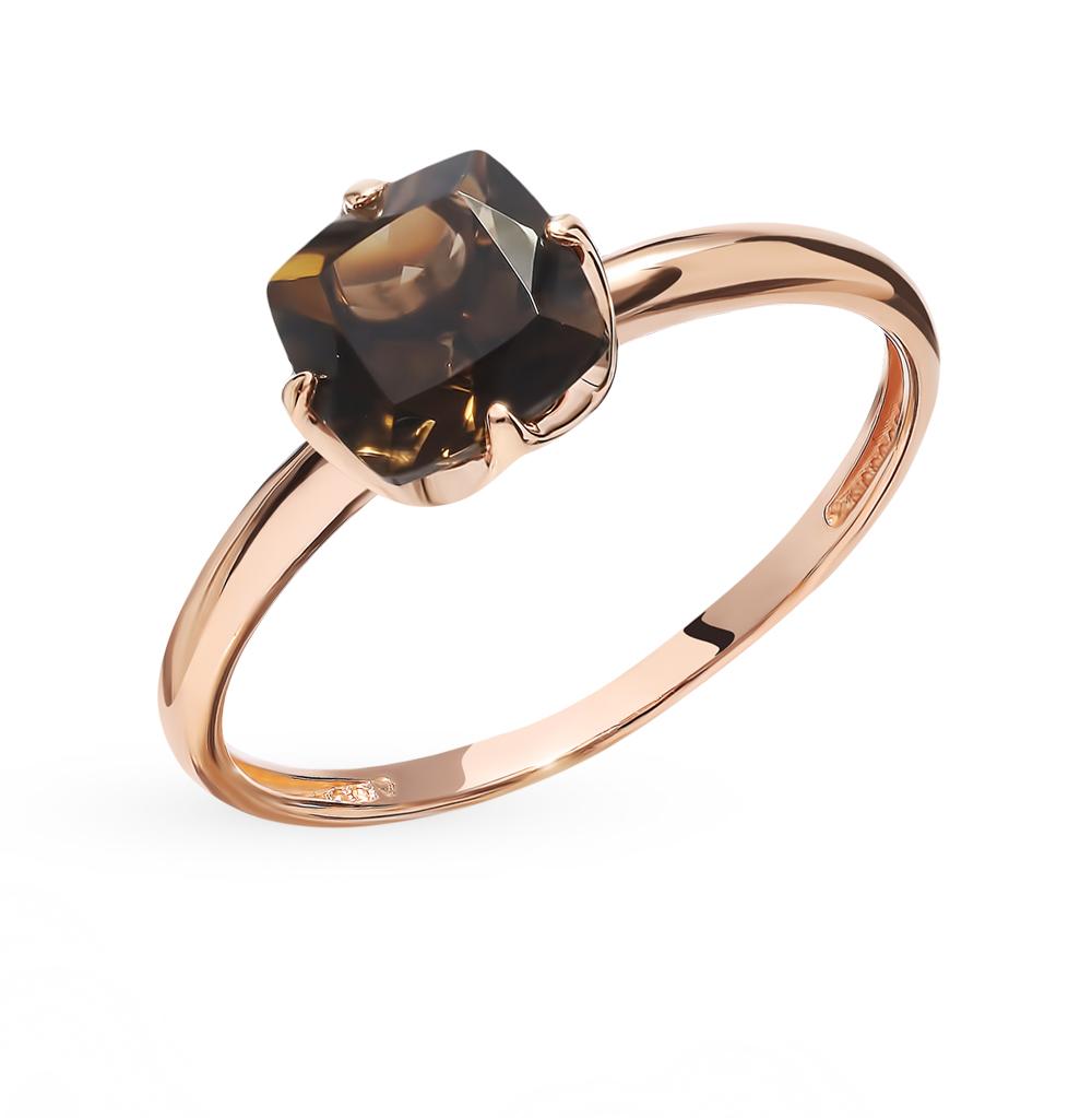 Золотое кольцо с раухтопазами в Екатеринбурге