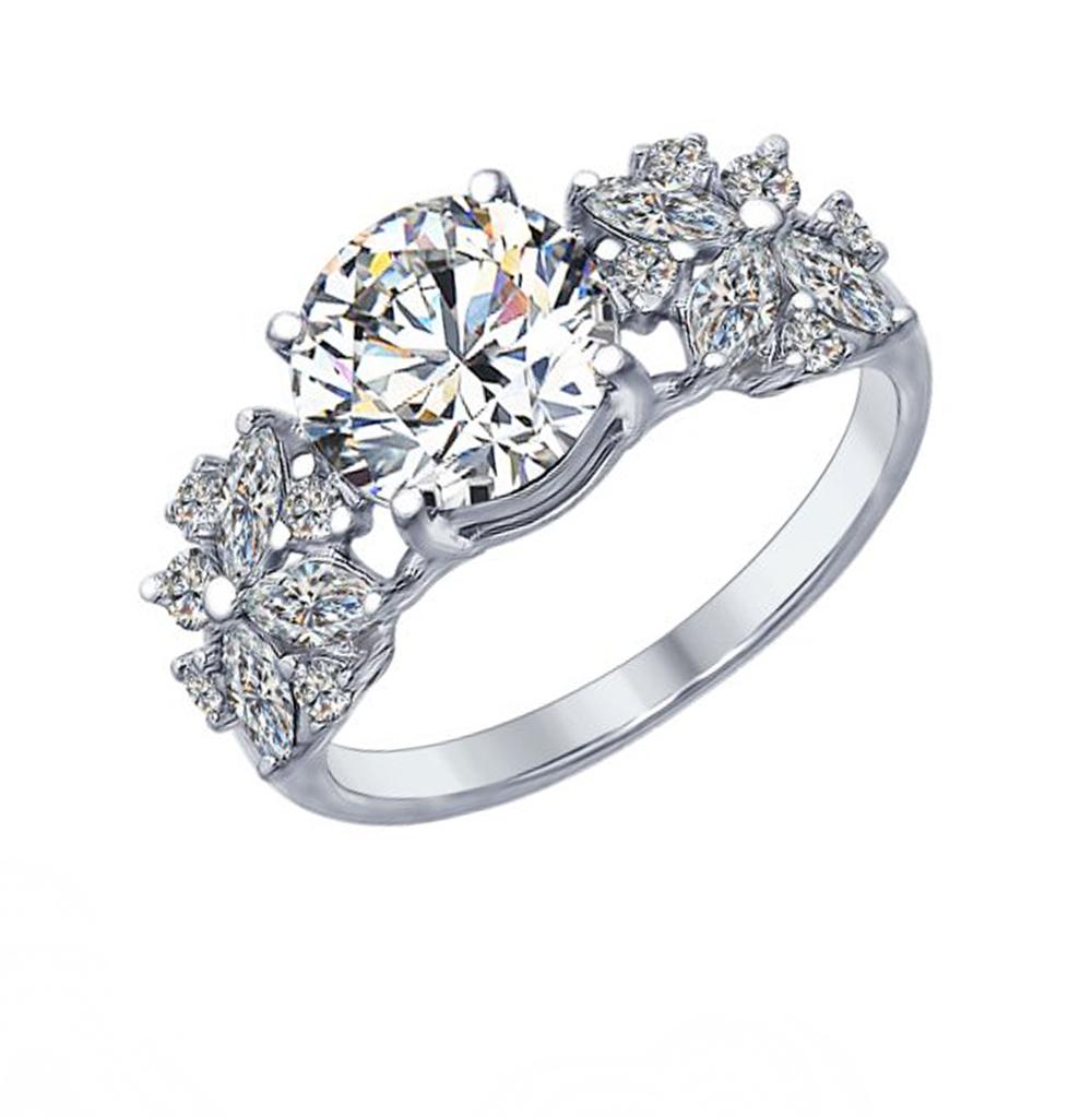 Фото «Серебряное кольцо с фианитами SOKOLOV 94012395»