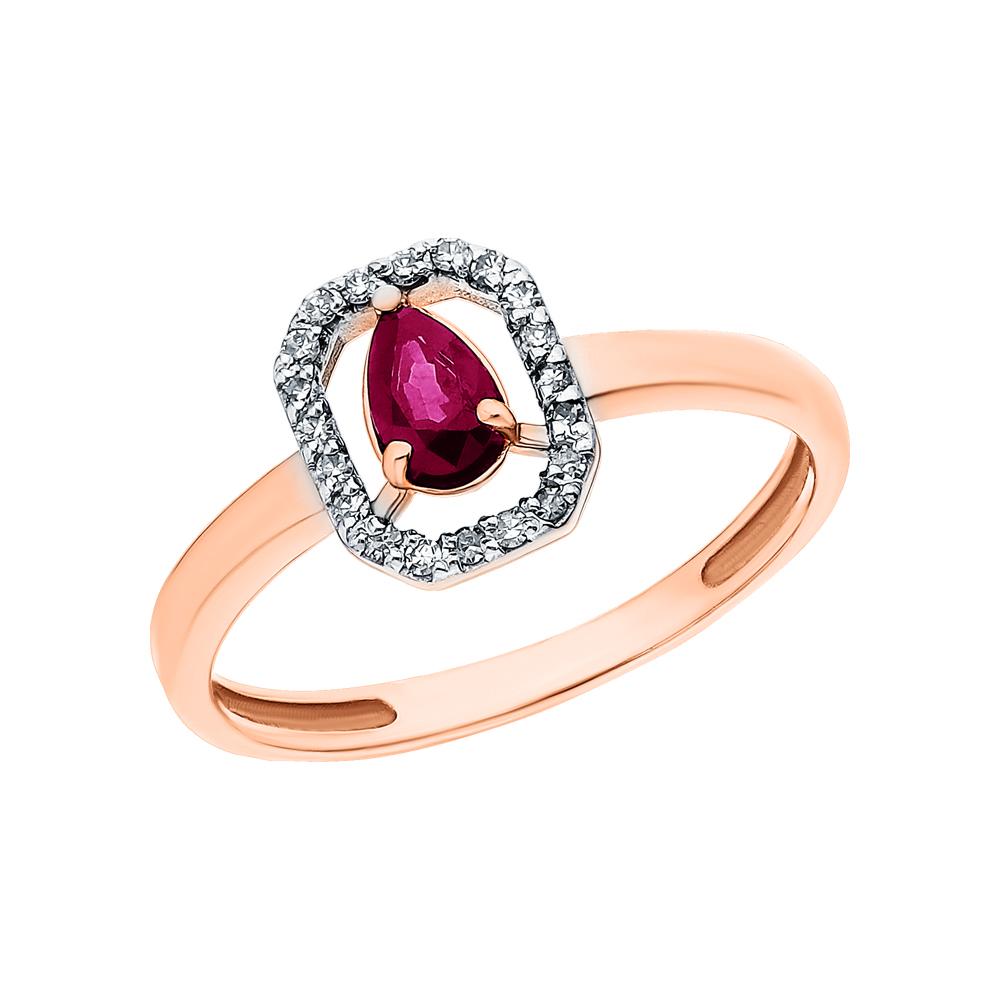 Фото «Золотое кольцо с рубинами и бриллиантами»