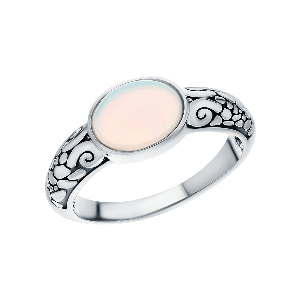 Серебряное кольцо с опалами в Екатеринбурге