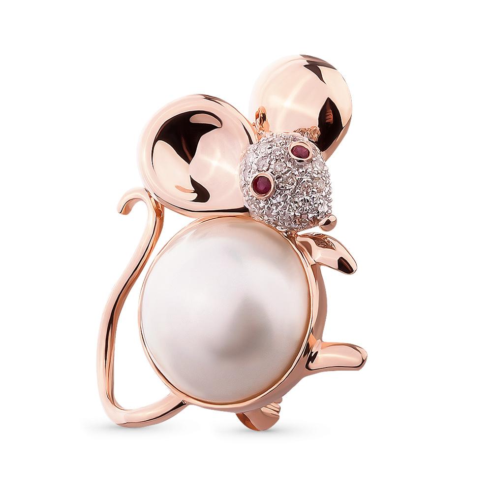Фото «золотая брошь с рубинами и бриллиантами»