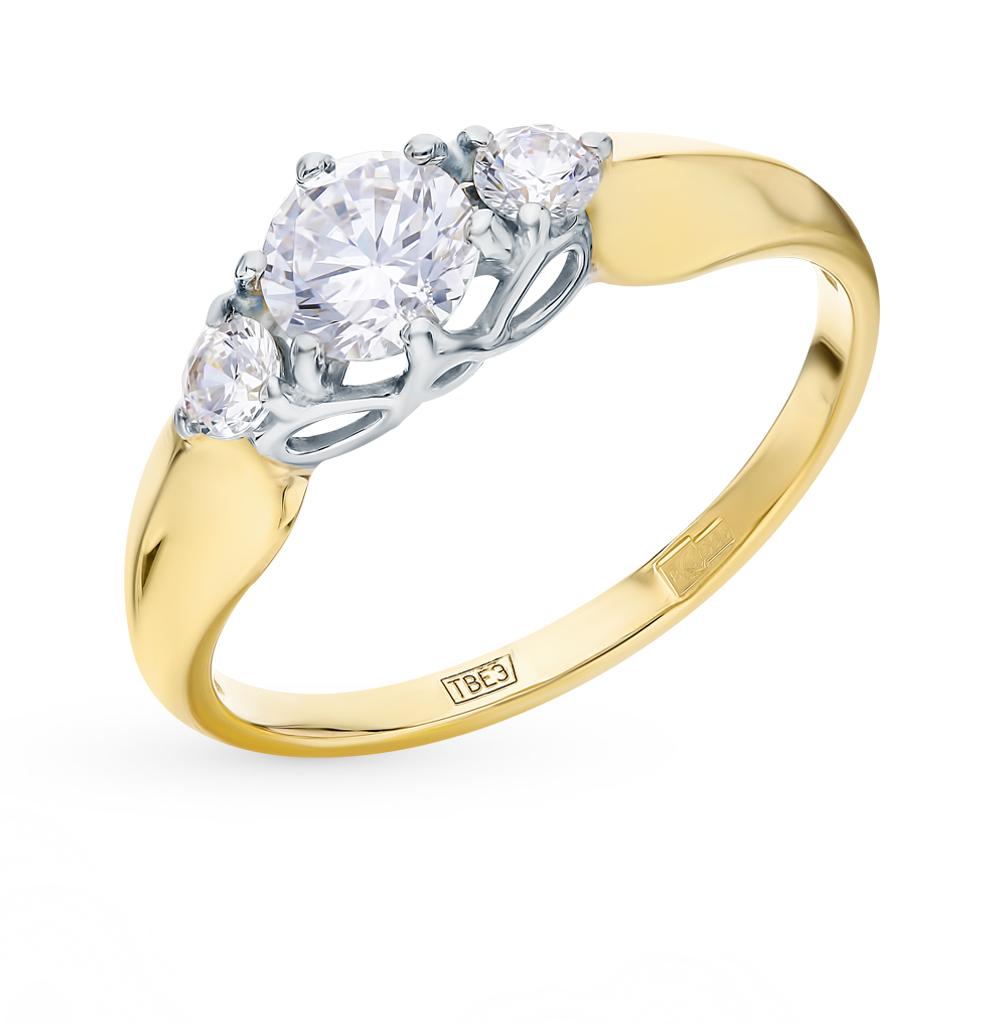 Золотое кольцо с фианитами SOKOLOV 017492-2* в Екатеринбурге