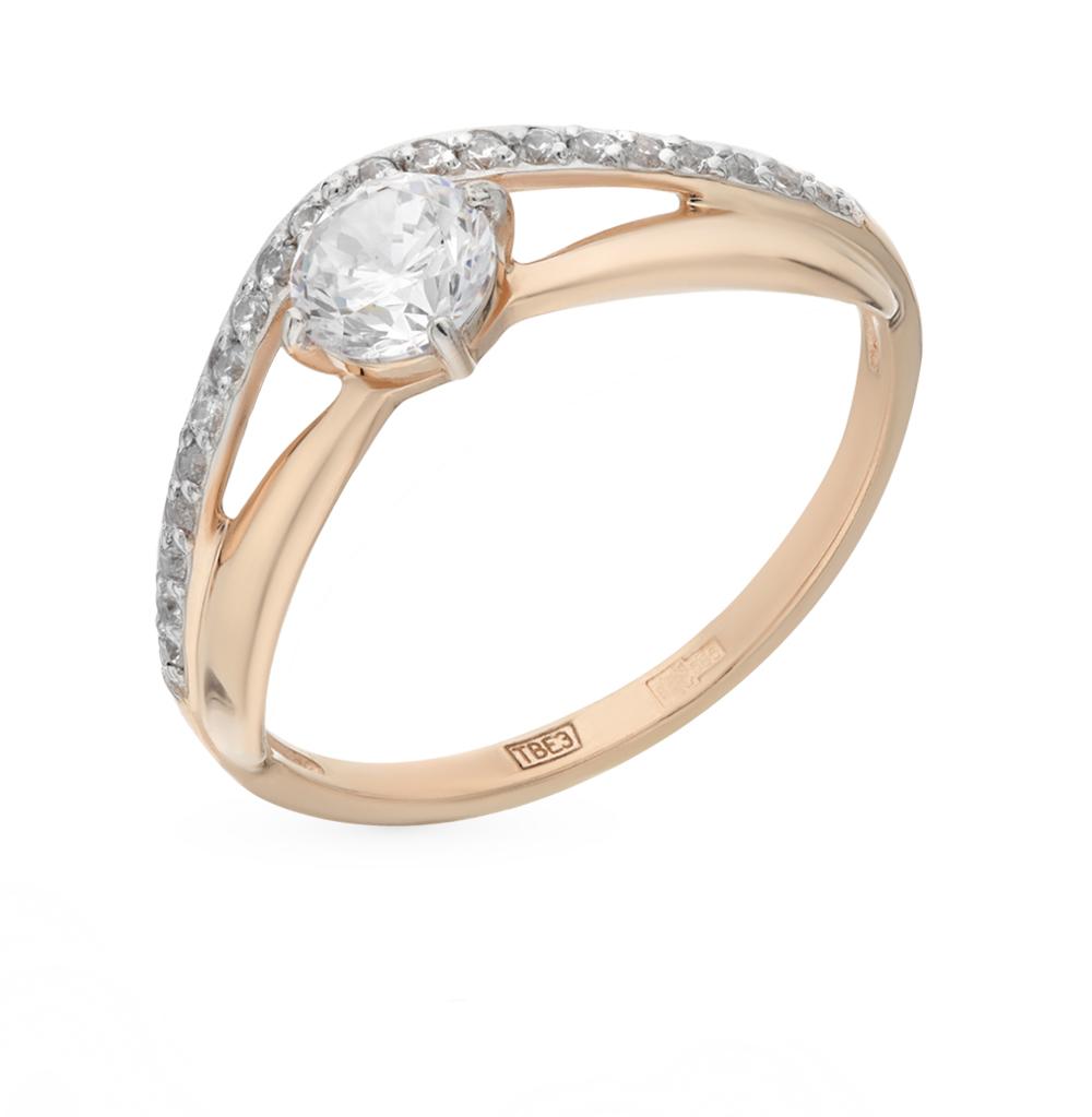 золотое кольцо с фианитами SOKOLOV 017142*