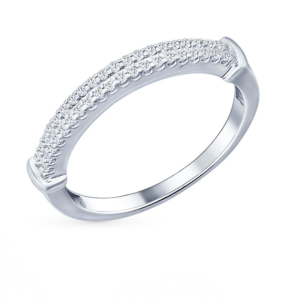 серебряное кольцо с фианитами SOKOLOV 94011573
