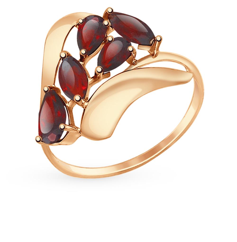 Золотое кольцо с гранатом SOKOLOV 714658* в Санкт-Петербурге