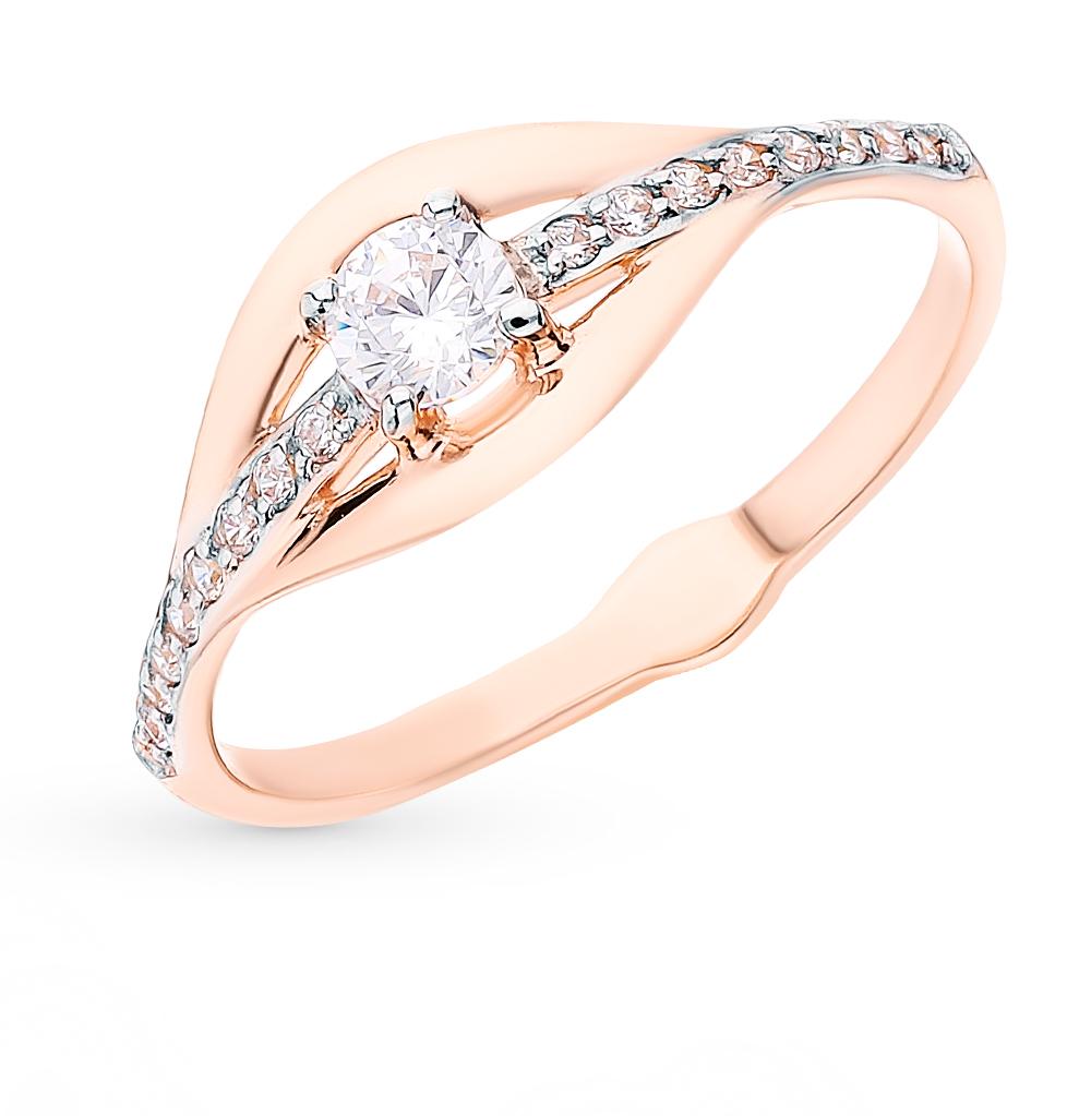 Фото «Золотое кольцо с фианитами SOKOLOV 018071*»