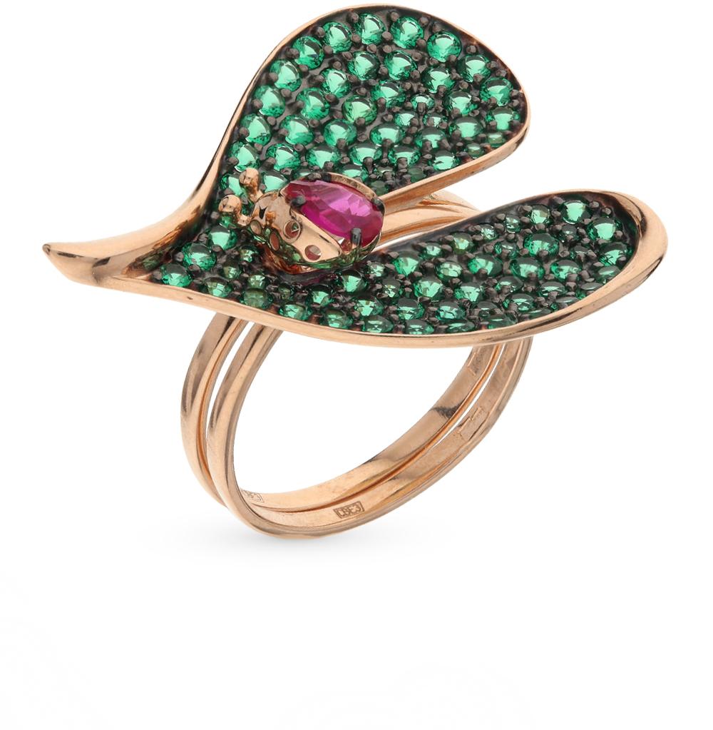 золотое кольцо с фианитами SOKOLOV 017171*