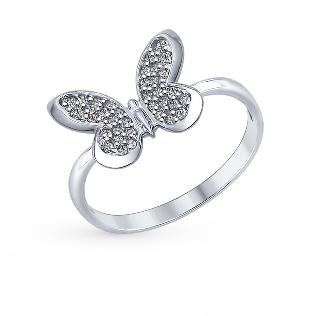 Фото «Серебряное кольцо с фианитами SOKOLOV 94012310»