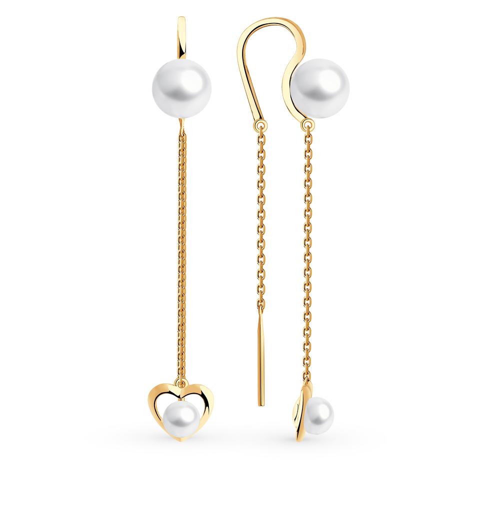 золотые серьги с жемчугом SOKOLOV 792206*
