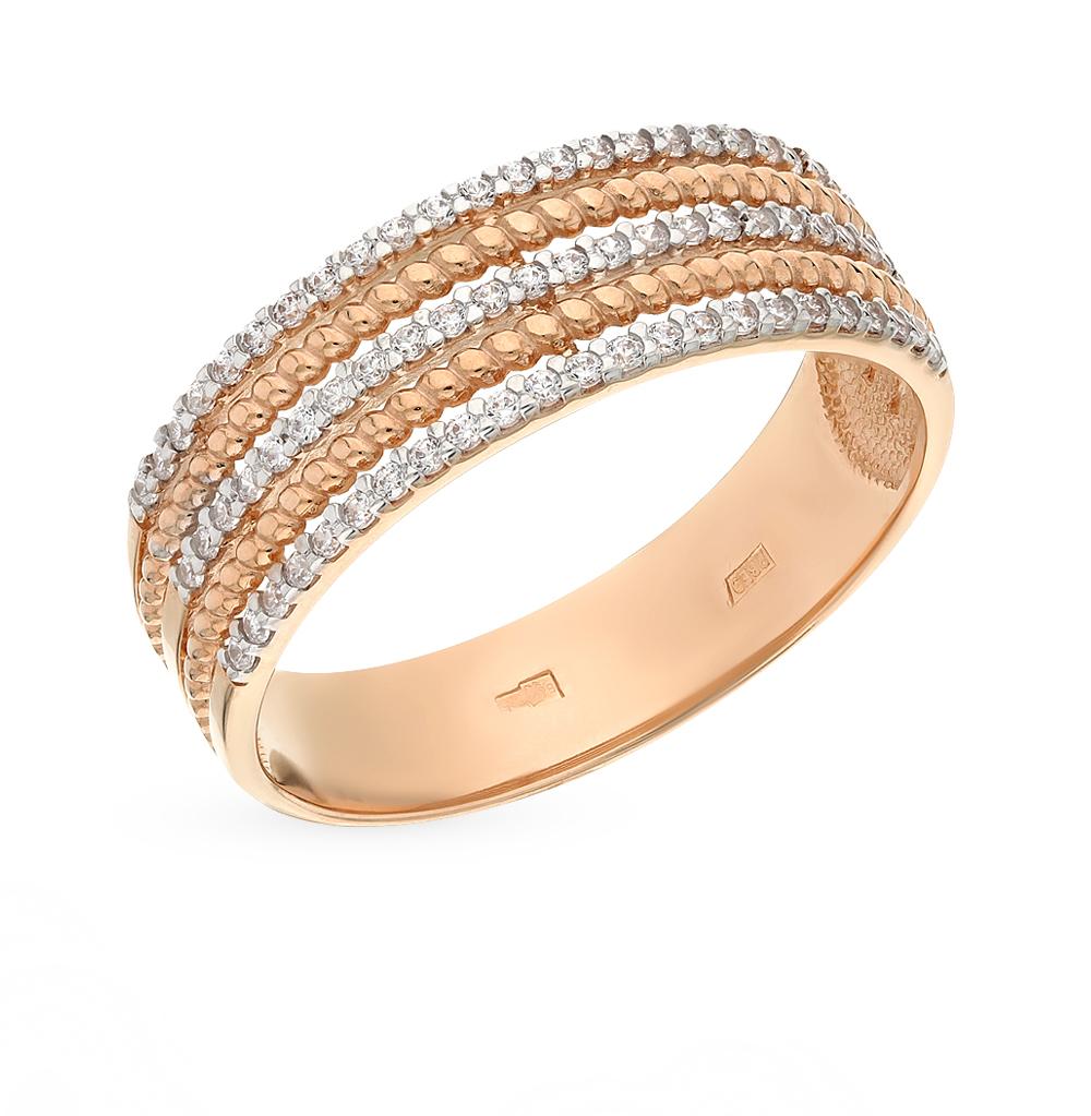 Фото «Золотое кольцо с фианитами SOKOLOV 015706*»