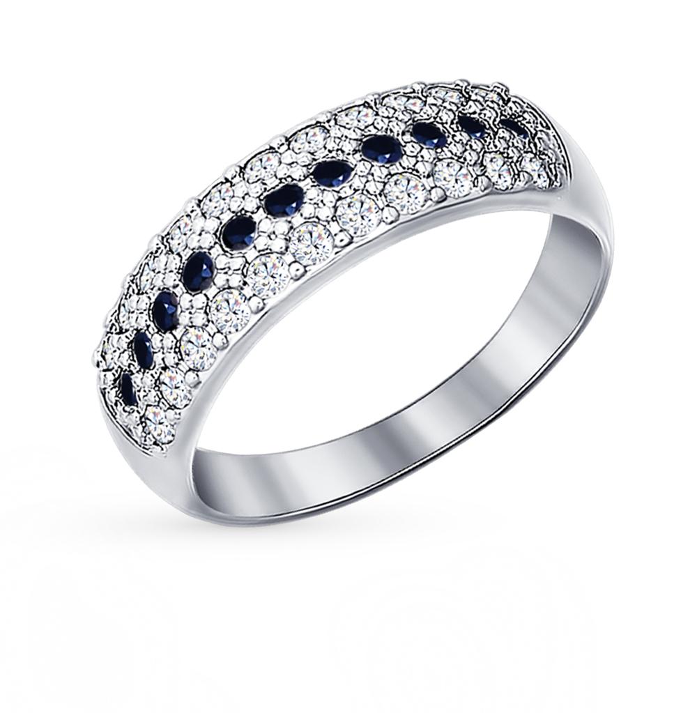 серебряное кольцо с фианитами SOKOLOV 94010063