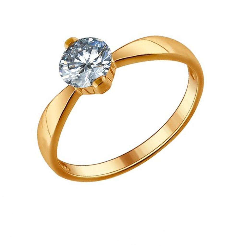 Серебряное кольцо с фианитами SOKOLOV 93010485 в Екатеринбурге