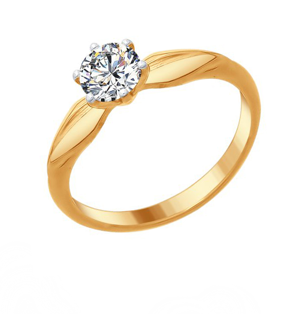 Фото «Серебряное кольцо с фианитами SOKOLOV 89010086»