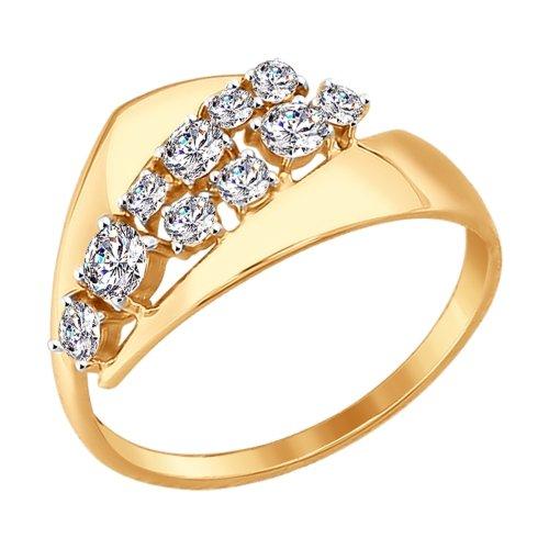 Золотое кольцо с фианитами SOKOLOV 017398* в Екатеринбурге