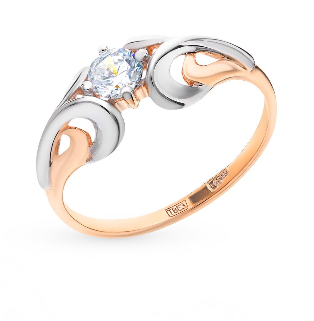 Фото «Золотое кольцо с фианитами SOKOLOV 017650*»