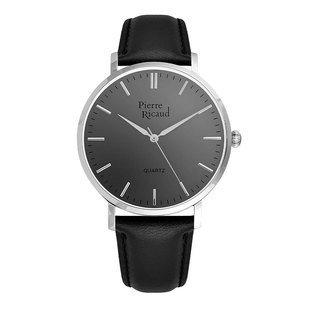 Мужские кварцевые часы P91074.5217Q на кожаном ремешке с минеральным стеклом в Екатеринбурге