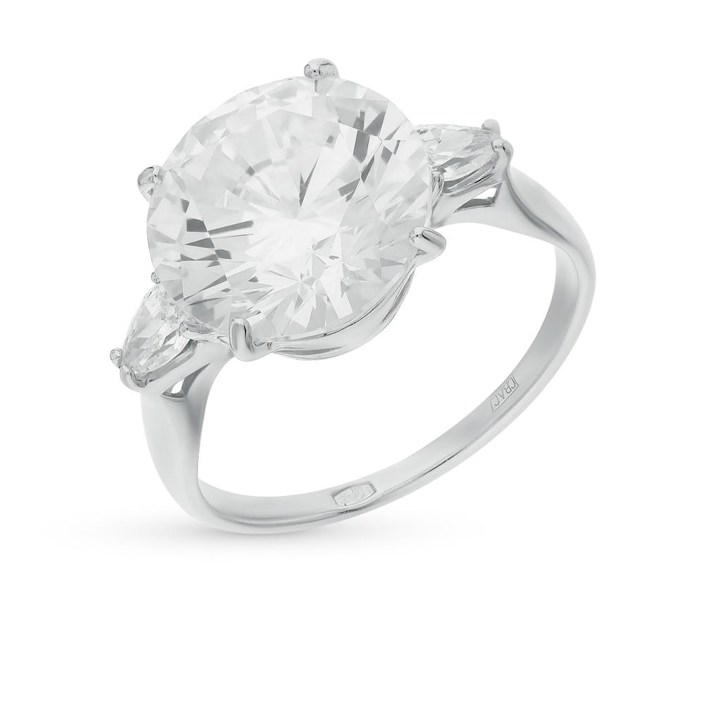 серебряное кольцо с фианитами SOKOLOV 94012076