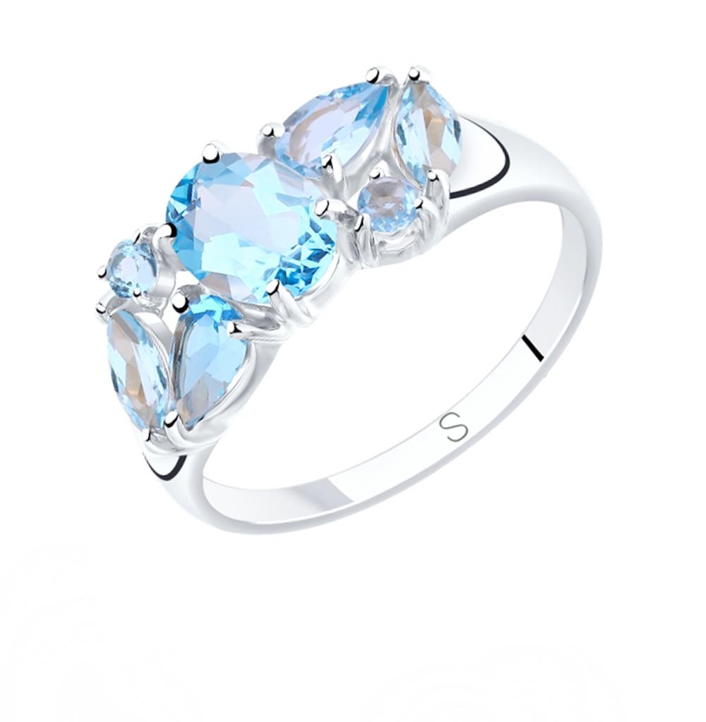 серебряное кольцо с топазами SOKOLOV 92011808