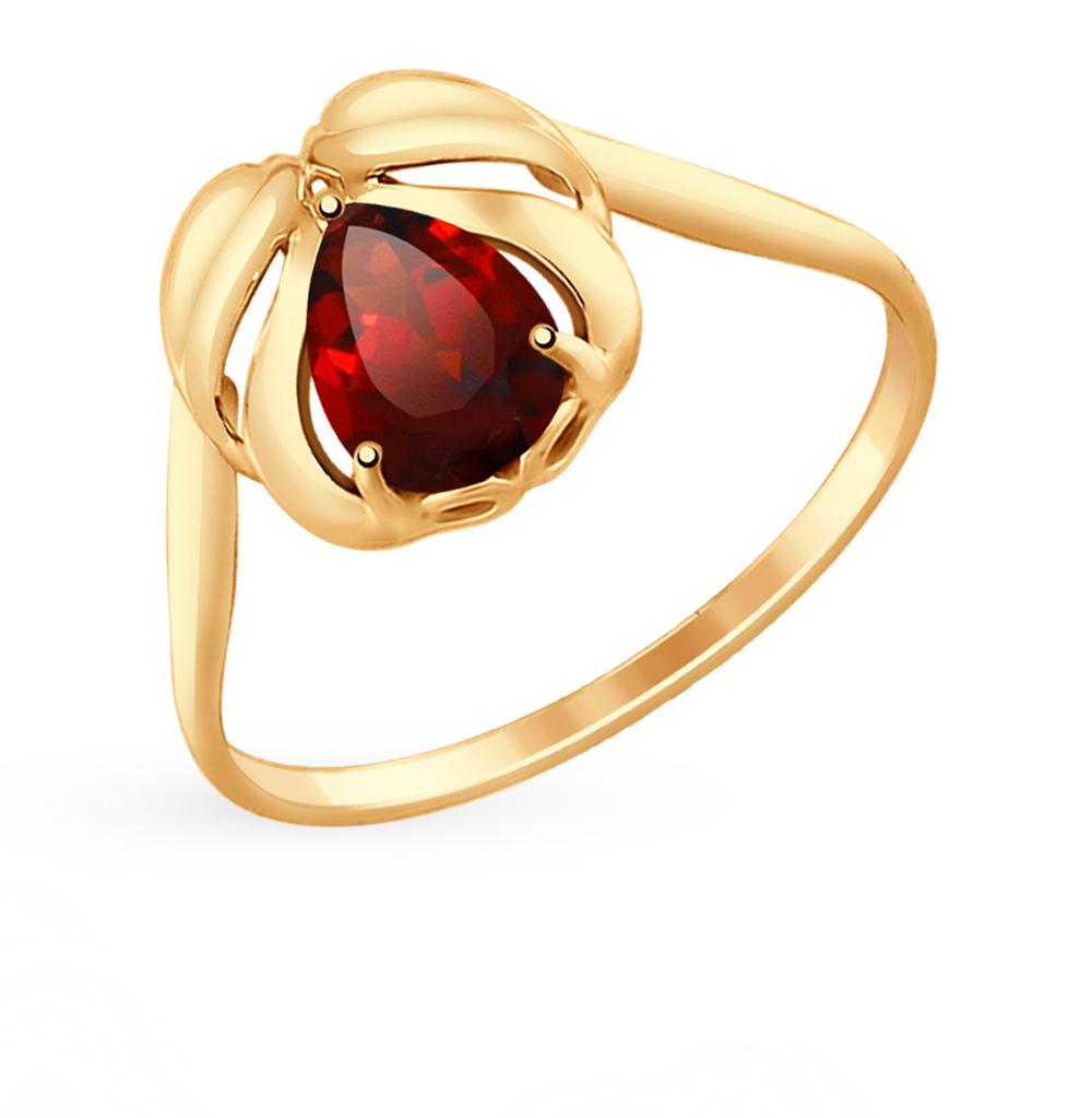 Фото «Золотое кольцо с гранатом SOKOLOV 714702*»