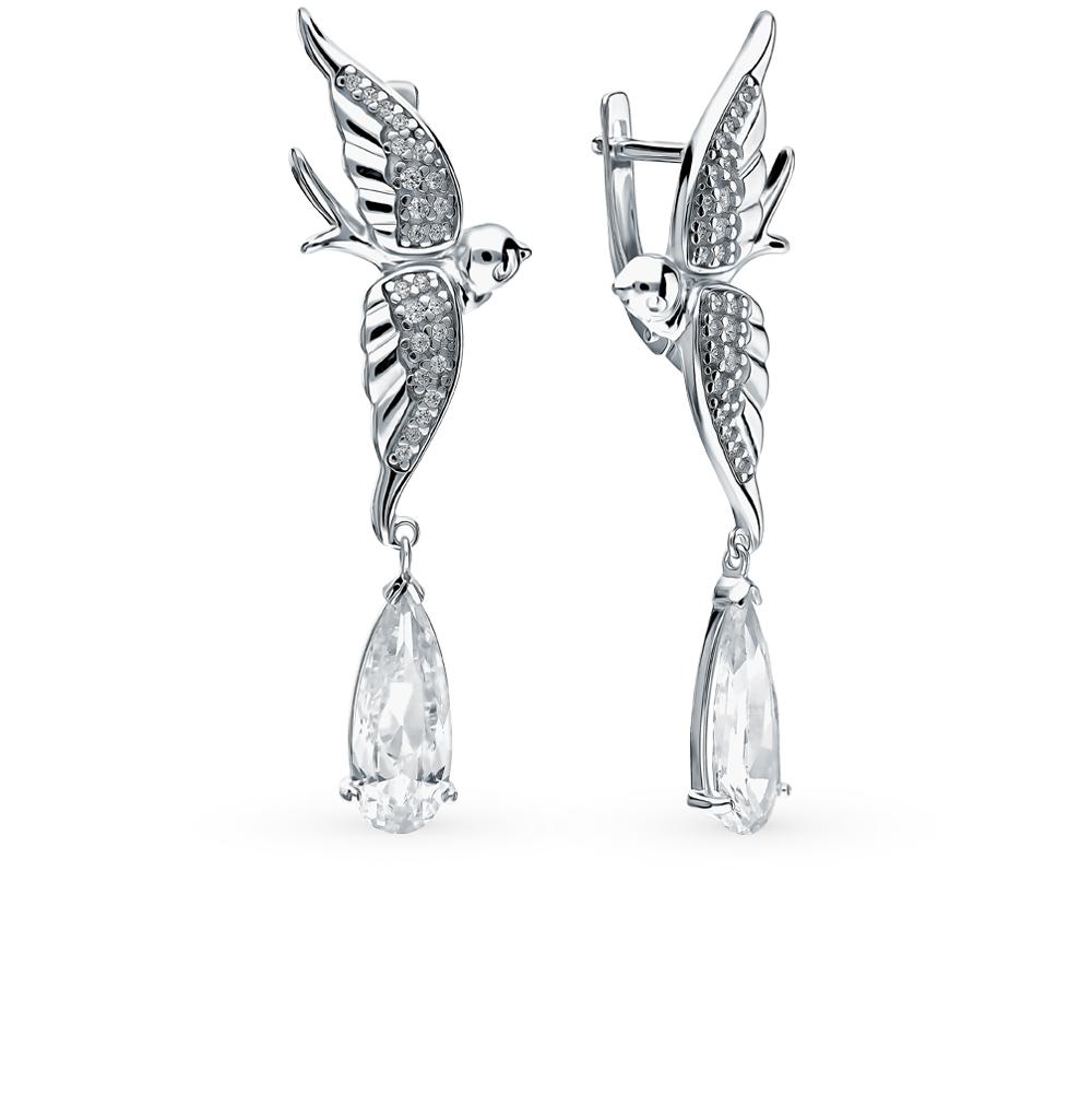 серебряные серьги с фианитами SOKOLOV 94023310