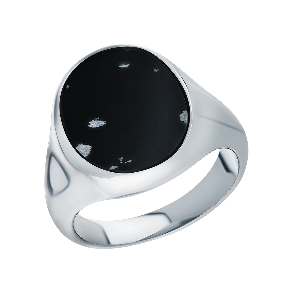 Фото «Стальное кольцо с мраморами»