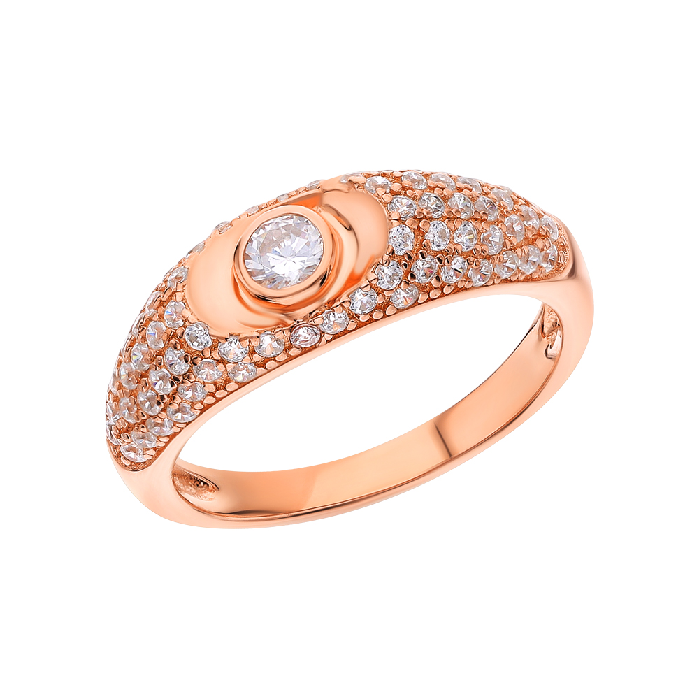 Серебряное кольцо с ситаллами и кубическими циркониями в Санкт-Петербурге