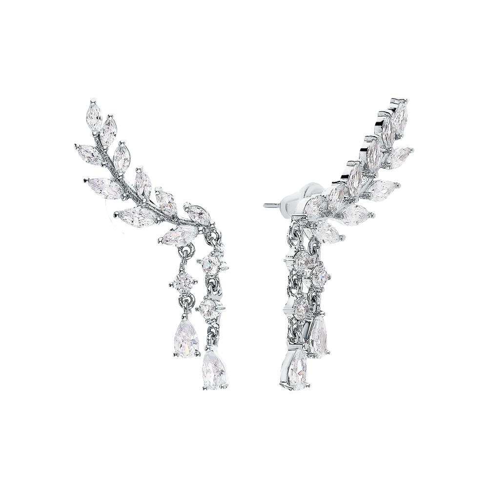 Фото «Стальные серьги с фианитами»