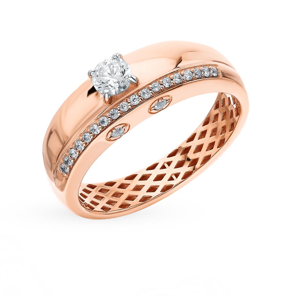 Фото «Золотое кольцо с фианитами SOKOLOV 018263*»