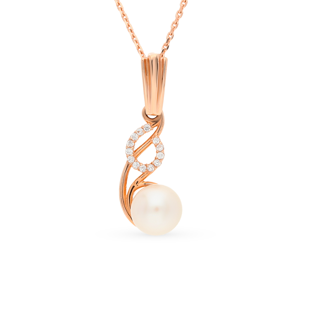 Фото «золотая подвеска с жемчугом и бриллиантами»