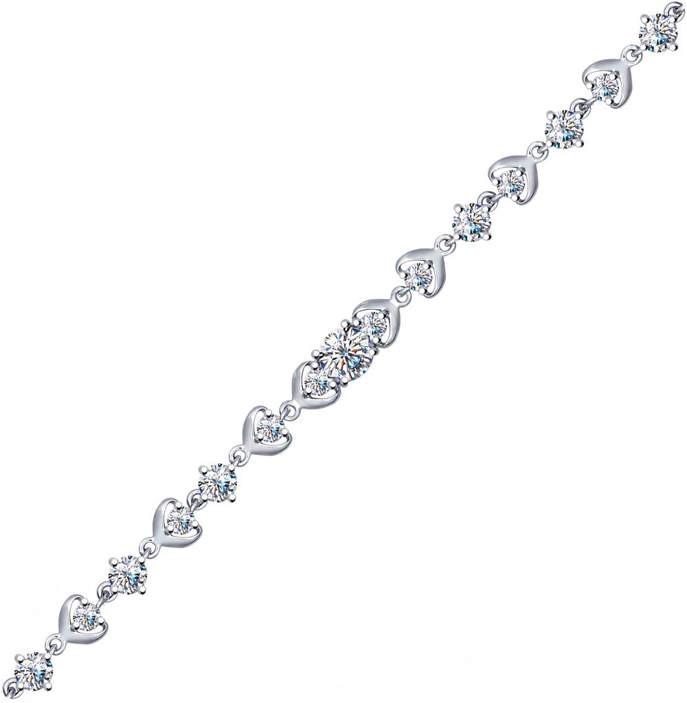 серебряный браслет с фианитами SOKOLOV 94050356