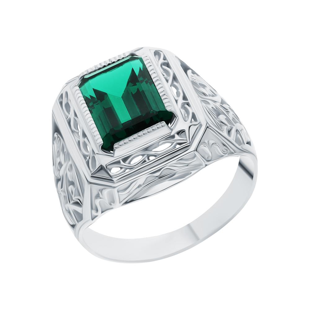 Серебряное кольцо с изумрудами в Екатеринбурге