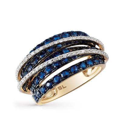 Золотое кольцо с сапфирами и бриллиантами в Санкт-Петербурге