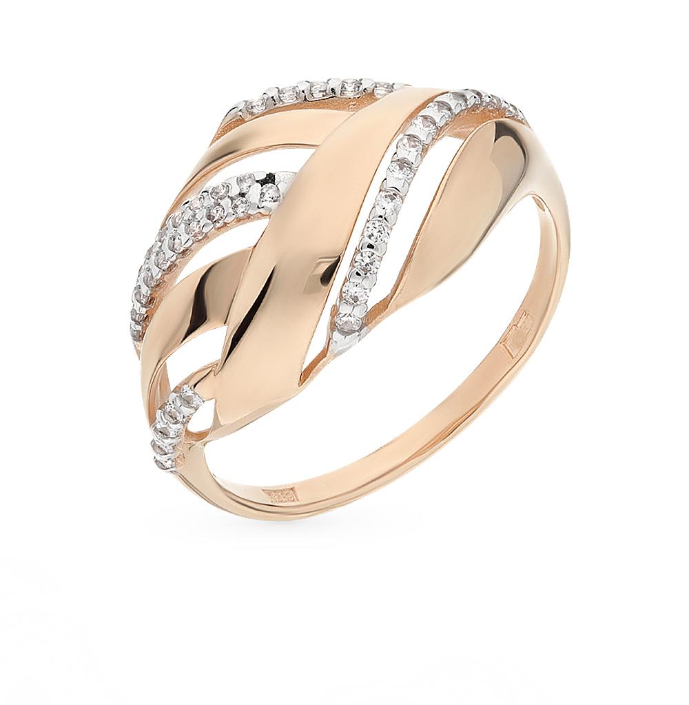 Фото «Золотое кольцо с фианитами SOKOLOV 015739*»